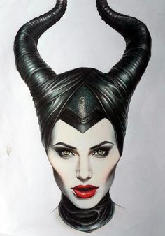 "Angelina Jolie ""MALEFICENT"" I need to try and draw this!!!!"
