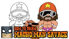 How to Draw Randy Macho Man Savage Easy Cartoon Drawings, Disney Drawings, Easy Drawings, Simple Cartoon, Cartoon Kids, Shopkins Drawings, Cartooning 4 Kids, Cartoon Network Characters, Online Drawing
