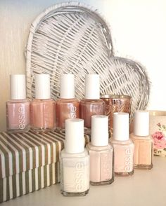All time favorite nude nail polishes for a clean, classic essie mani.