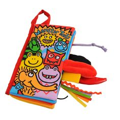 jellycat/布えほん Monster Tails Book 2625yen にぎやかな動物がたくさん!ユーモア溢れる布製絵本