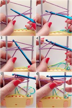Step 5 how to make hairpin lace