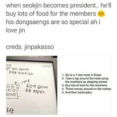 Aww i love Jin too with his ahjussi personality n quirkiness omg i found it attractive