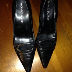 Black Michael Shannon Heels Size 8 Black Michael Shannon Heels. Shoes have never been worn. Michael Shannon Shoes Heels
