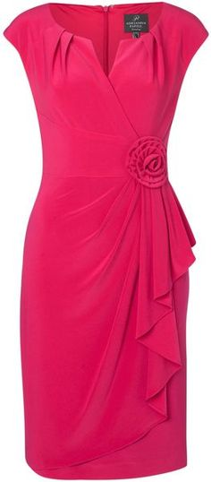 Adrianna Papell Cap Sleeve Dress in Pink | Lyst