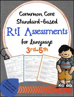 The 41-page packet was also much needed for me! It's jammed packed with content aligned with the common core state standards for 3rd-5th grades. It allows you to easily track RtI students' progress in the curriculum through the use of pretests, post-tests, and progress monitoring checks.This packet includes: *Third Grade  pretests, post-tests, progress monitoring sheets for wh questions, language concepts, grammar, and vocabulary.  *Fourth Grade  pretests, post-tests, progress monitoring…