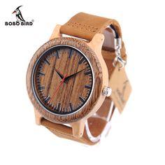 15733efb539 BOBO PÁSSARO Madeira Nova CbM14 Banda Projeto Original Japão Relógio de  Quartzo Relógios De Pulso De Luxo para Homens na Caixa de Presente de Papel