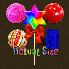 Scrapbook candy I made in my 3D program. They are created at 300 DPI in PNG format