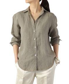 カジュアルシャツ(7 ベージュ系): レディース   メーカーズシャツ鎌倉 公式通販   MAKER'S SHIRT KAMAKURA