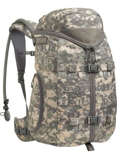 An adjustable Futura™ Harness and triple zip design makes this pack ideal for carrying heavy loads with immediate access to gear.Includes the 100 oz (3 L) Mil Spec Antidote™ Long Reservoir with Quick Link™ Exit PortReservoir Features: More than just a reservoir, the Mil Spec Antidote™ Reservoir redefines the ultimate delivery system for an operator's water supply and provides maximum adaptability for changing missions or combat environments. Includes our Quick Link™ Exit Port and QL ...