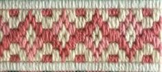 Looking for starter projects to learn to needlepoint? Check out these 7 Bargello or Long Stitch designs that are easy & quick for needlepoint newbies.: Old Florentine Bargello Needlepoint Border Design