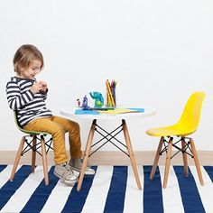 Replica Charles & Ray Eames Replica Kids Eiffel DSW Circular Table | Zanui.com.au