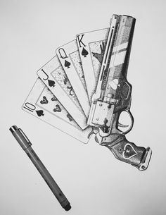 My new dotwork piece The Ace of Spades based on the weapon from Destiny. Ace Of Spades Tattoo, Hand Tattoos, Tattoo Homme, Pink Dolphin, Card Drawing, Poster Designs, Tattoo Drawings, Tatting, Weapons