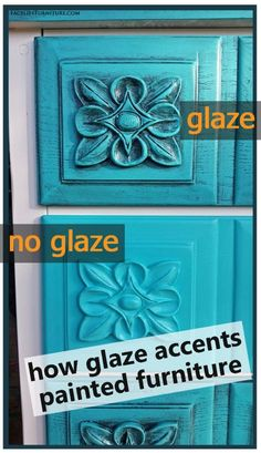 How glaze accents painted furniture - From Facelift Furniture's DIY Blog