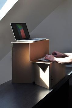 2   This $25 Cardboard Sit-Stand Desk Means You No Longer Have An Excuse To Sit   Co.Exist   ideas + impact