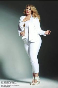 Who says big girls can't wear white! This is haute!!