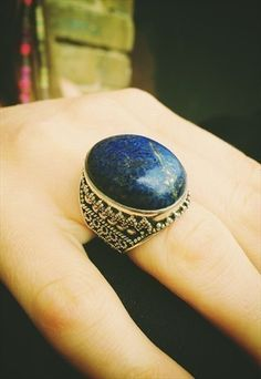 STERLING SILVER WITH LAPIS LAZULI