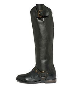 Betsey Johnson Shoes, Leigh Tall Harness Riding Boots - Shoes - Macy's