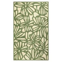 Hand-hooked indoor/outdoor rug with a floral motif.  Product: RugConstruction Material: PolypropyleneColor: IvoryFeatures:  Hand-hookedCan be used indoor or outdoor Note: Please be aware that actual colors may vary from those shown on your screen. Accent rugs may also not show the entire pattern that the corresponding area rugs have.