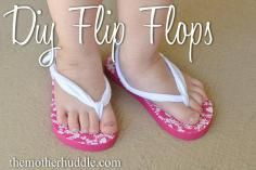 DIY Tutorial DIY Flip Flops / DIY Simple Flip Flops - Bead&Cord