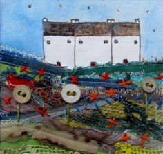 'The allotment' commission piece by Louise O'Hara of DrawntoSticth www.drawntostitch.com