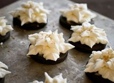 Dark Chocolate Cookies with Champagne Buttercream