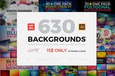 Posted by @newkoko2020 630 BACKGROUNDS IN ONE PACK(80% OFF) by VitalexShop on @creativemarket