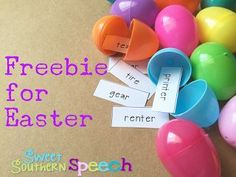 Fun Freebie for articulation - fun easter egg hunt activity