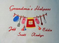 Grandma's kitchen helpers embroidered sweatshirt How Many Kids, Kitchen Helper, Embroidered Sweatshirts, Silhouette Cameo, Your Design, Machine Embroidery, My Favorite Things, Retro, Gifts