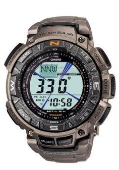Casio Mens PAG240T-7CR Pathfinder Triple Sensor Multi-Function Titanium Watch