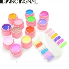 DANCINGNAIL 12 Pure Color LED UV Nail Polish Gel Decor DIY Nail Art Tips Manicure Decoration Youth Series 101-112 >>> Continue to the product at the image link.