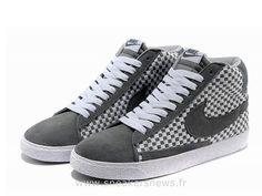 brand new da5b2 c0103 Nike Blazer Pas cher Mid Woven Grey homme 2014 Nike Blazer Cuir Homme