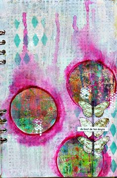 art journal et gelli plate!-------need to remember to cut up gelli prints to make background pages