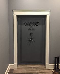 Superieur American Made Vault Door With Custom Cross Guns U0026 Clients Name.