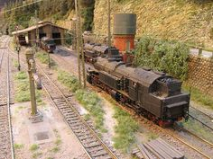 "Layout ""Dreimühlentalbahn"", 1/87 scale H0 (NEM standard). Made by Jacques Damen / Modelspoor Collectief (NL)."