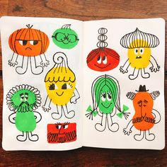 Drawing Wonder • Today's Moleskine Art! イラスト&ヘンテコキャラクターのご用命は... Cartoon Art, Cartoon Characters, Kitty Crowther, Visual Diary, Book Projects, Moleskine, Great Artists, Wall Murals, Doodles