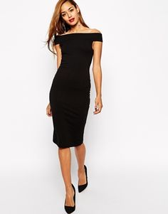 Enlarge ASOS Bardot Bodycon Midi Dress