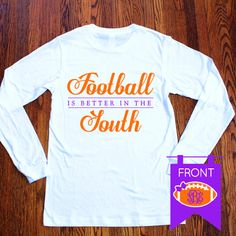 Football is Better in the South Southern Belle Bow Long Sleeve Tee Shirt