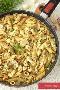 Kurczak zmakaronem wsosie koperkowo-czosnkowym Pasta Recipes, Vegan Recipes, Dinner Recipes, Easy Food To Make, Best Appetizers, Cooker Recipes, Food Design, Italian Recipes, Food Inspiration