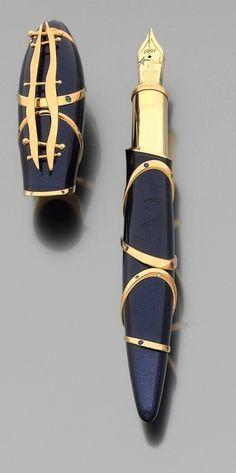stylo mont blanc starwalker blue