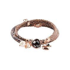 Stylishes Wickelarmband in Snake-Optik. #armband #anhänger #schmuck #braun