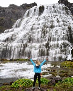 Admiring Dynjandi Falls in the Westfjords