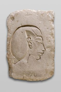 Trial Piece with Relief of Head of Akhenaten, Egyptian Art