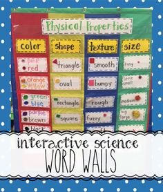 Interactive Science Word Walls                                                                                                                                                     More