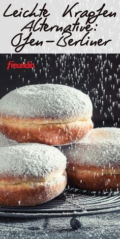 Leichte Krapfen Alternative: Ofen-Berliner You love donuts, but are afraid of the many calories? Try this low calorie and delicious version Beignets, Donut Recipes, Paleo Recipes, Pastry Recipes, Paleo Donut, Berlin Food, Paleo Meal Plan, Dieta Paleo, Healthy Eating Tips