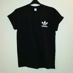4559b3997 Unisex Customised Adidas Double Sided T Shirt Top Festival Swag Urban...  ($22