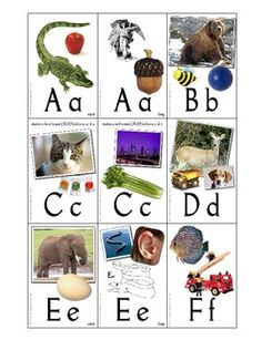 Print onto cardstock and laminate. Pictures are bright and colorful. There are two cards for the letters C and G, as well as two cards for each vow...