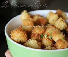 Nuggets de Coliflor receta de snack saludable   La Cocina de Gisele