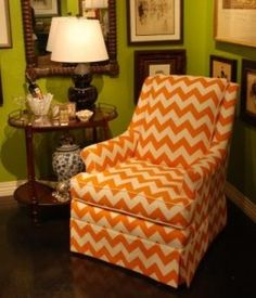 orange & white chevron via nellhillsblog.com