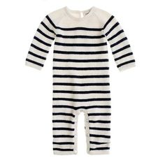 sweet baby's romper suit with stripes in black & white | kids fashion . Kindermode . mode d'enfant | @ J. Crew |