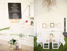 Simple + airy decor in a tent | VIA #WEDDINGPINS.NET